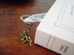Signet avec un ruban et petite fée couleur bronze