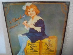 """Plaque publicitaire rétro """"Tobler Cacao"""""""