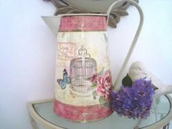"""Broc """"L'eau des fleurs"""" cage et fleurs bis"""