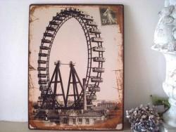 """Plaque décorative rétro """"Grande roue"""""""