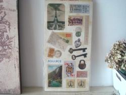 Grande pochette de 17 stickers vintage