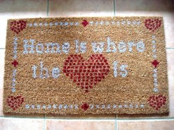 """Paillasson  'Home is where the ♥ is"""""""