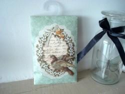 Pochette senteur de lys médaillon colombe