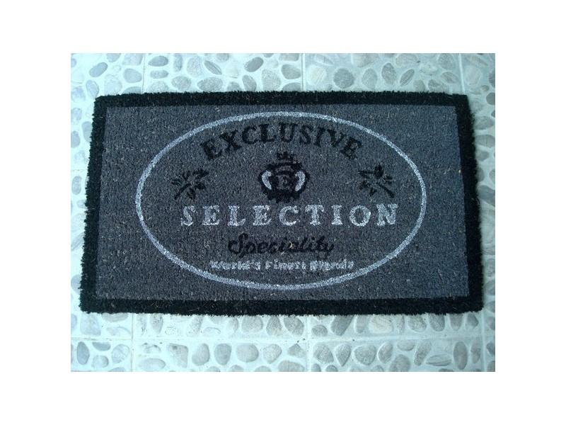 """Paillasson gris, noir et blanc """"Exclusive Sélection"""""""
