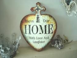 "Déco murale en forme de coeur ""Home"""