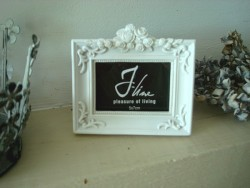 Mini cadre photo rectangulaire au fronton de roses