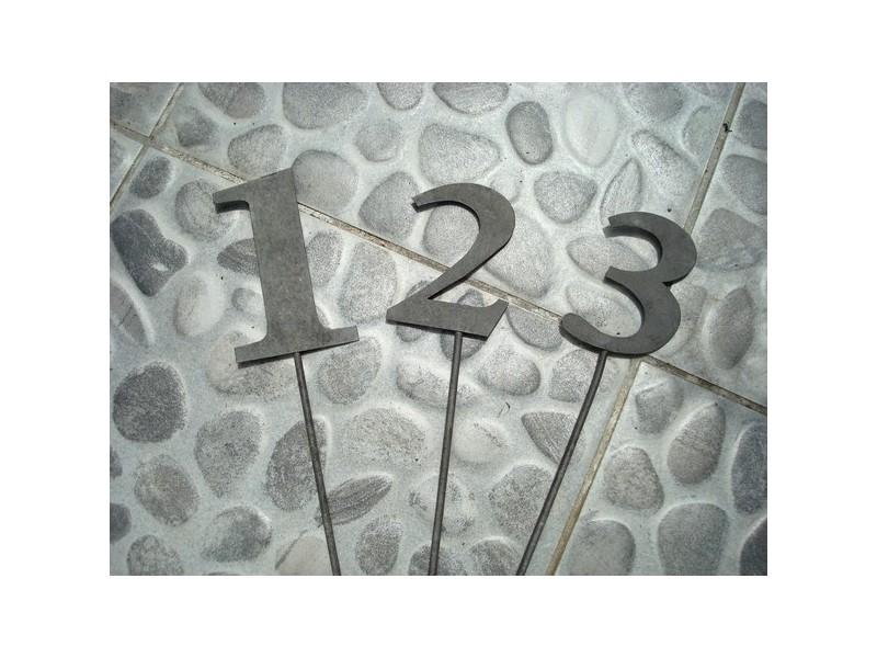 """Set de 3 piques fleurs """"1.2.3""""  ambiance campagne"""