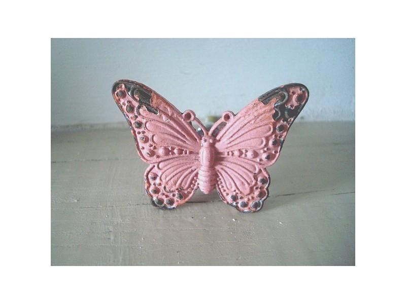 Bouton de porte en forme de papillon, style campagne