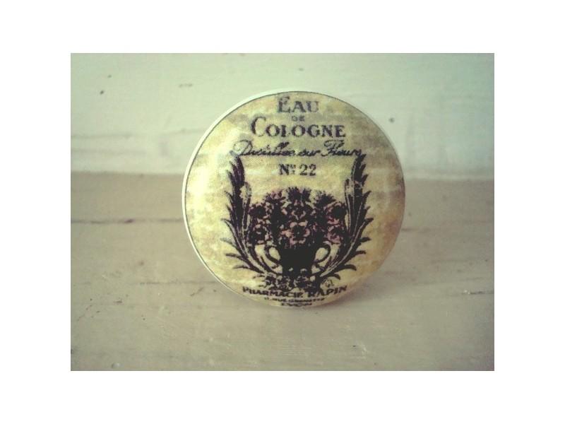"""Bouton de porte porcelaine """"Eau de Cologne"""""""