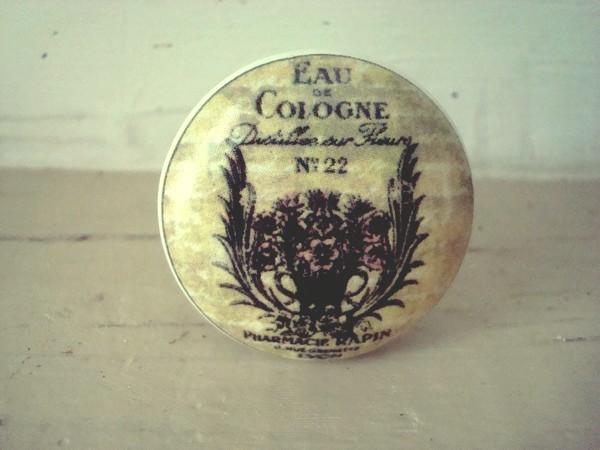 Bouton de meuble en porcelaine eau de cologne - Bouton de porte en porcelaine ...