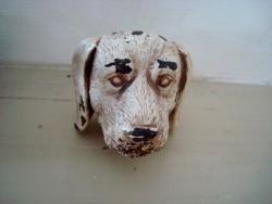 Bouton de porte en forme de tête de chien, ambiance campagne