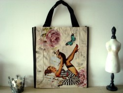 Sac shopping pin up et chiot