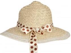 Chapeau de paille beige pour femme