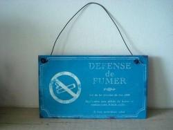 """Plaque décorative rétro """"Défense de fumer"""""""