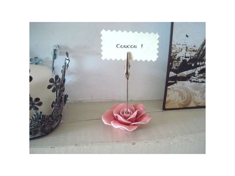 Porte photo pince rose