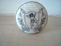Bouton de meuble en porcelaine ange, style gustavien