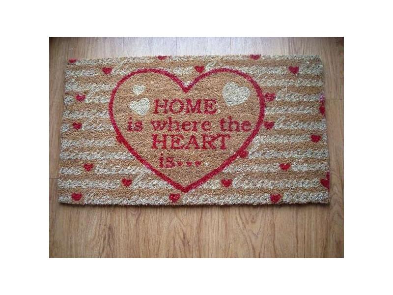 "Paillasson original ""Home is where the heart is"", déco montagne"