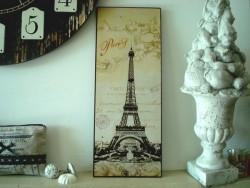 """Plaque décorative rétro """"Paris Tour Eiffel"""""""