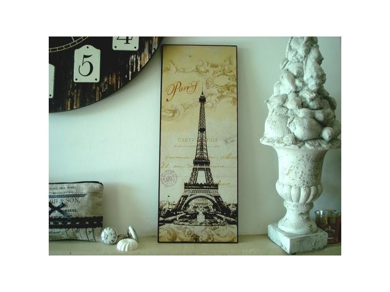 """Plaque décorative rétro """"Tour Eiffel"""""""