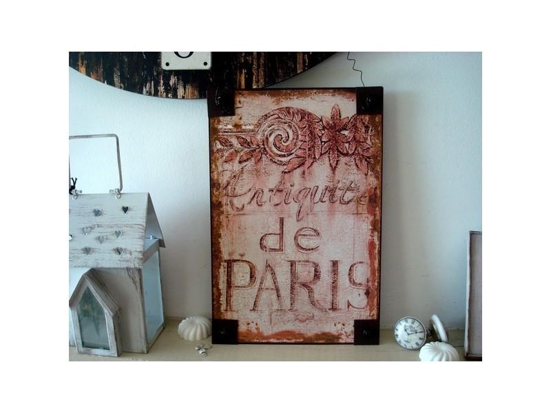 """Plaque décorative rétro """"Antiquité de Paris"""""""