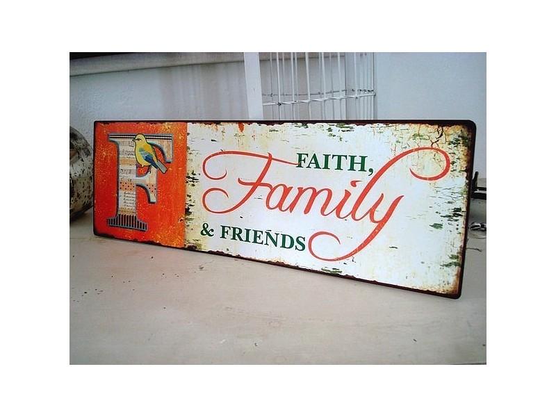 """Plaque décorative vintage """"Family"""""""
