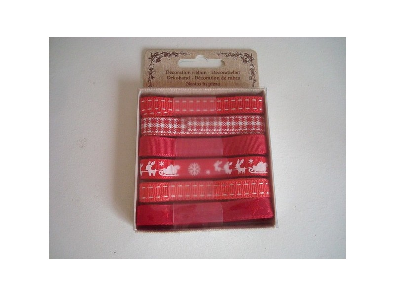 Rubans décoratifs dans les tons de rouge