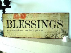 "Plaque décorative murale ""Blessings"" ambiance cosy"