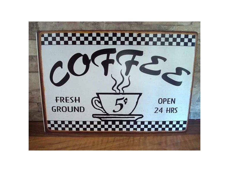 "Plaque décorative vintage ""Coffee"""