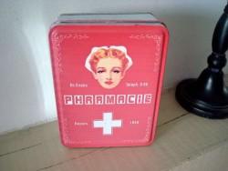 """Petite boîte en métal """"Pharmacie"""" style vintage"""