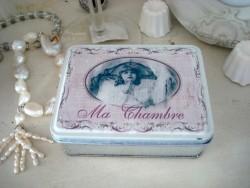"""Boîte rétro fillette """"Ma Chambre"""" ambiance de charme"""
