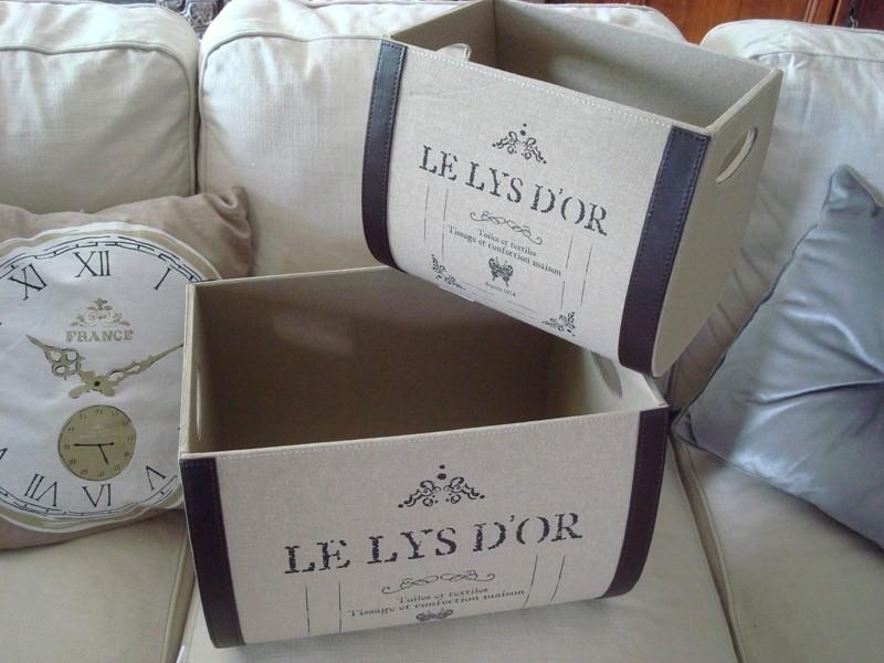 """Boîtes de rangement """"Le lys d'or"""" style cosy"""