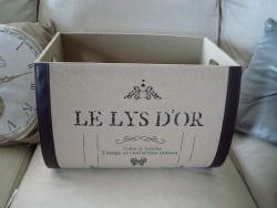 """Boîtes de rangement """"Le lys d'or"""" déco cosy"""