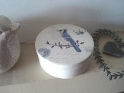 Boîte à bijoux à l'oiseau bleu en céramique