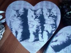 Boîtes de rangement coeurs aux chatons ambiance cosy