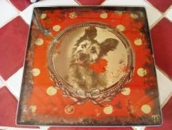 Dessous de plat vintage en verre décor chien