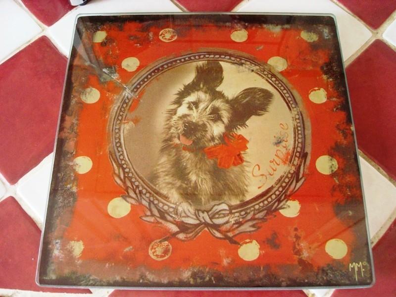 Dessous de plat vintage au chien