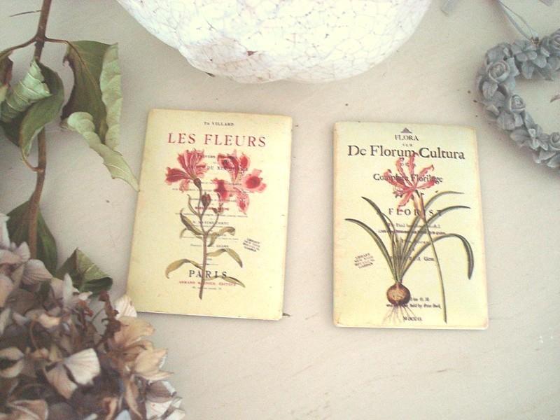 Duo de magnets aux fleurs style campagne