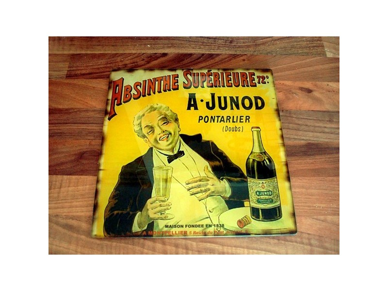 """Dessous de plat """"Absinthe Junod"""" style années 50"""