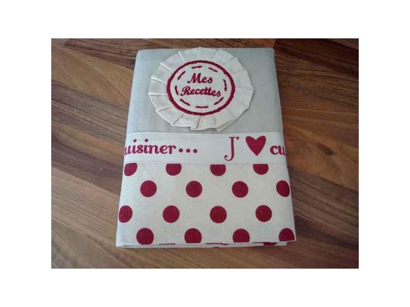 """Livre de cuisine """"Mes recettes"""" décor coeur"""