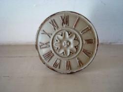 Bouton de porte rond motif horloge rétro