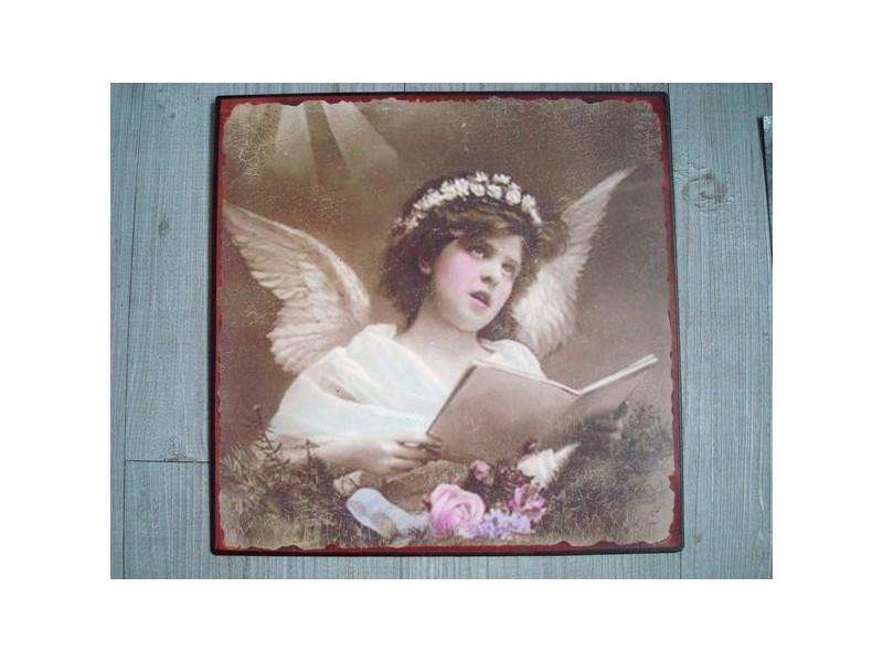 Plaque murale décorative ange rétro style Gustavien
