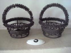 Minis paniers ronds en fil de fer style champêtre