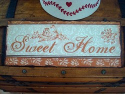 "Plaque décorative "" Sweet Home"" style rétro"