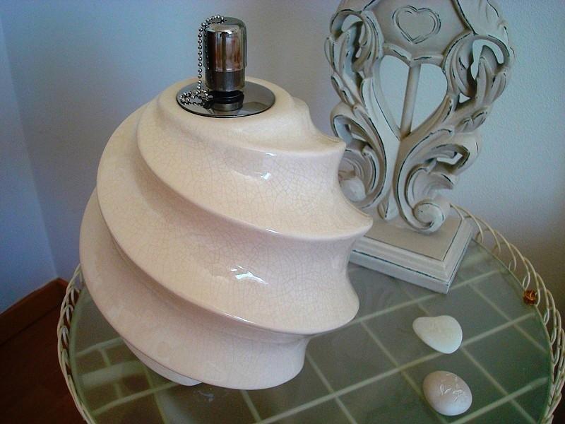 Lampe à huile rétro à spirale en céramique craquelée