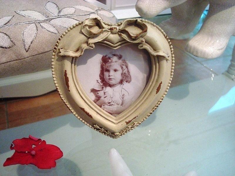Cadre photo en forme de cœur esprit Louis XVI