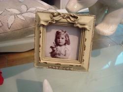 Cadre photo forme carré esprit Louis XVI