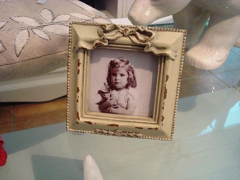 Cadre photo rétro de forme carré esprit Louis XVI