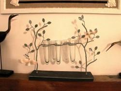 Vase soliflor aux arbres et aux oiseaux ambiance cosy