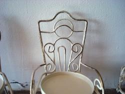 Ensemble de 3 portes noms et bougeoir en forme de chaise, ambiance de charme