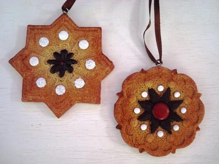 Duo de cookies à suspendre style chalet